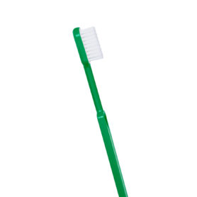 brosse à dents bioplastique verte