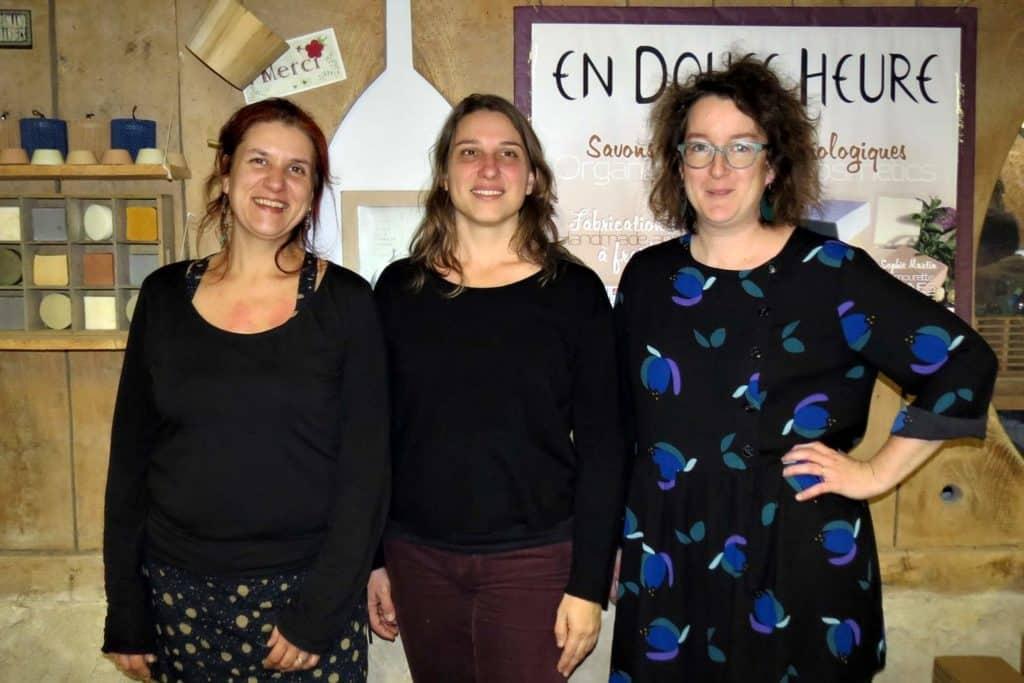 équipe En Douce Heure : Anne-Sophie, Emilie et Anne