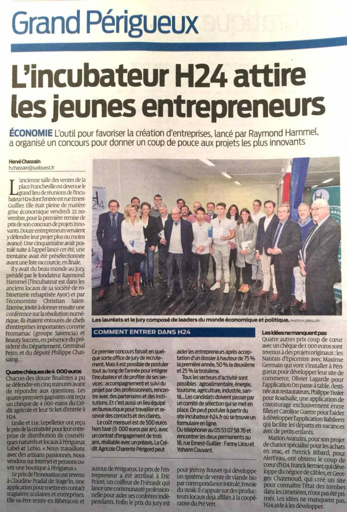 Sud Ouest - 27/11/2019