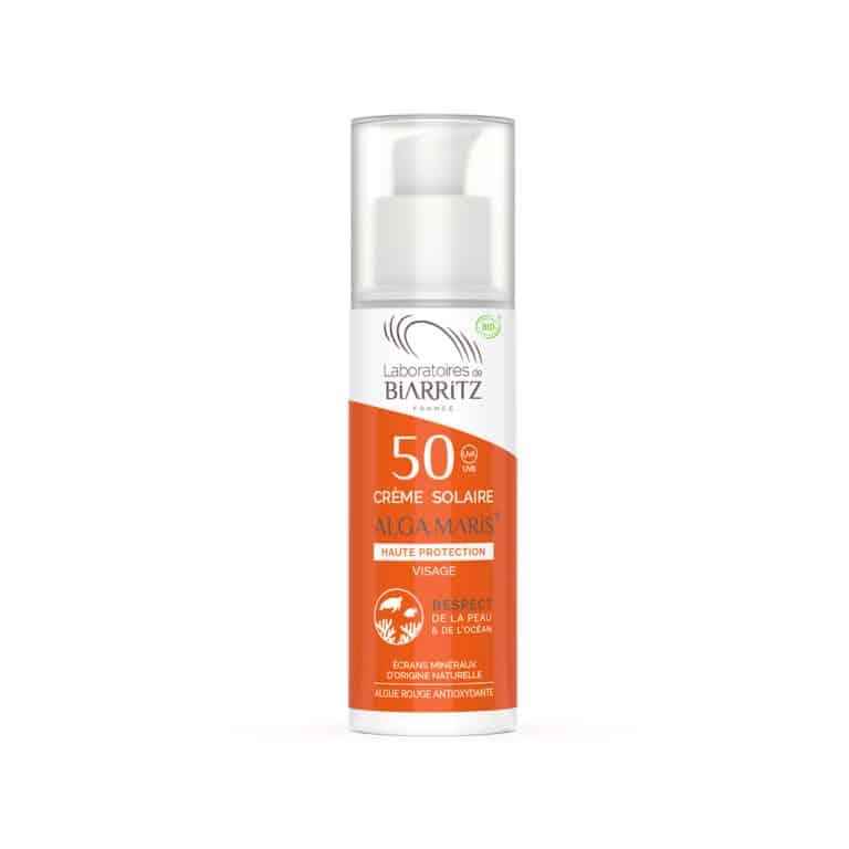 Crème Solaire Visage SPF50 Alga Maris