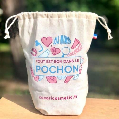 Pochon CocoriCosmetic en coton bio made in France