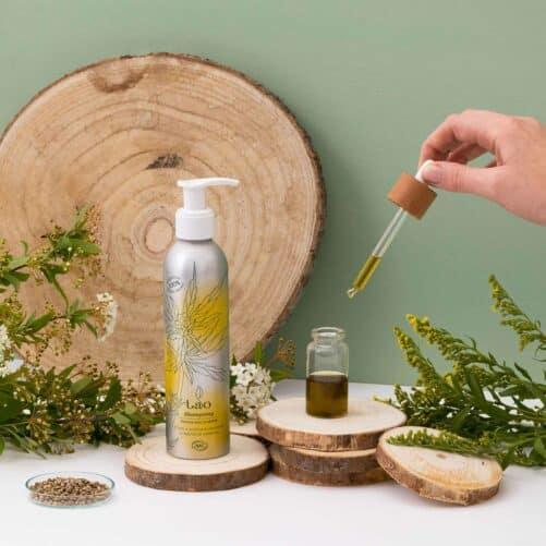shampoing cheveux secs au chanvre ambiance